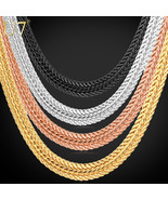 """Necklaces, With """"18K"""" Gold Stamp 18K Real Gold Plated 6MM - $40.99"""