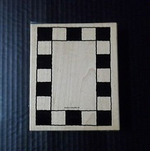 Stampin Up Rubber Stamp Frame Large Background Bold Check Checkerboard - $2.72