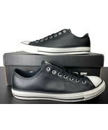 Converse Chuck Taylor All Star Ox Black Leather Sneaker 161497C 10 Men - $69.95