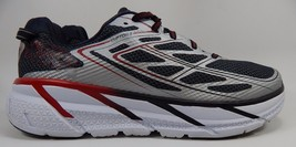Hoka One One Clifton 3 Men's Running Shoes Size US 9 M (D) EU 42 2/3 Gray Red