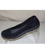 SKECHERS SUEDE PERFORATED BLACK WOMENS SHOES SIZE 8 - $34.64
