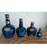 Lot 4 WADE Blue ROYAL SALUTE Scotch WHISKEY Bottle Scottish CHIVAS Decan... - $69.29