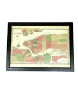 2003 Map of New York and the Adjacent Cities Framed Poster - Printed in ... - $49.95