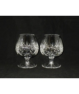 Astral Crystal Questa Pattern Cut Glass Brandy Glasses Snifters ~ Pair - $45.00
