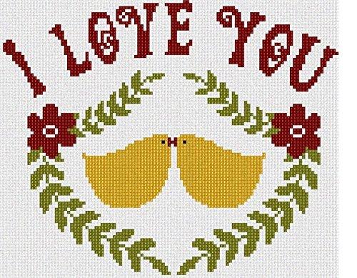 pepita Lovebirds Needlepoint Canvas - $45.00