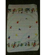 Toddle Time 1984 Disney Mickey Mouse Baby Receiving Blanket Vintage White - $32.79