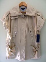 NWT Tommy Hilfiger Beautiful Cotton Short Sleeve Sand Stone Jacket Layer M $120 - $76.00