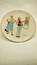 """Norman Rockwell """"Winter - New Year Look"""" Gorham China Plate 1978 Tender ... - $21.80"""