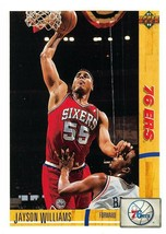 1991-92 Upper Deck #191 Jayson Williams RC Rookie Card > 76ers  - $0.99