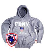 FDNY Hoodie Sweatshirt Crewneck Gear Gifts Fire Uniform Womens Mens Apparel - $34.49+