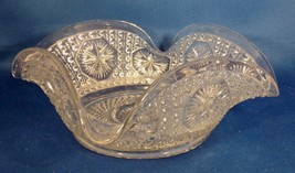 Imperial Glass Amelia Pattern Clear Glass 1925-31 Folded Edge Square Candy Dish- - $4.95