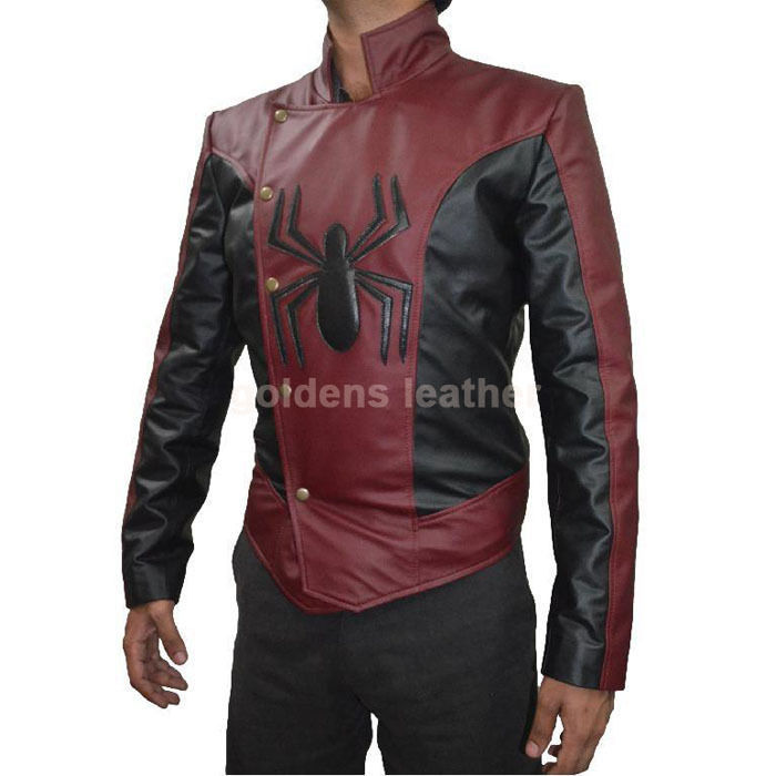 New Men's Stylish Lambskin Genuine Leather Motorcycle Biker Slim Fit Jacket GN29