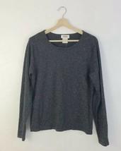 Talbots Women's Long Sleeve Wool Metallic Charcoal Gray Pullover Sweater... - $27.81