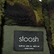 Stoosh Women's Ashley Oversized Green Camouflage Camo Fleece Jacket Size M image 3