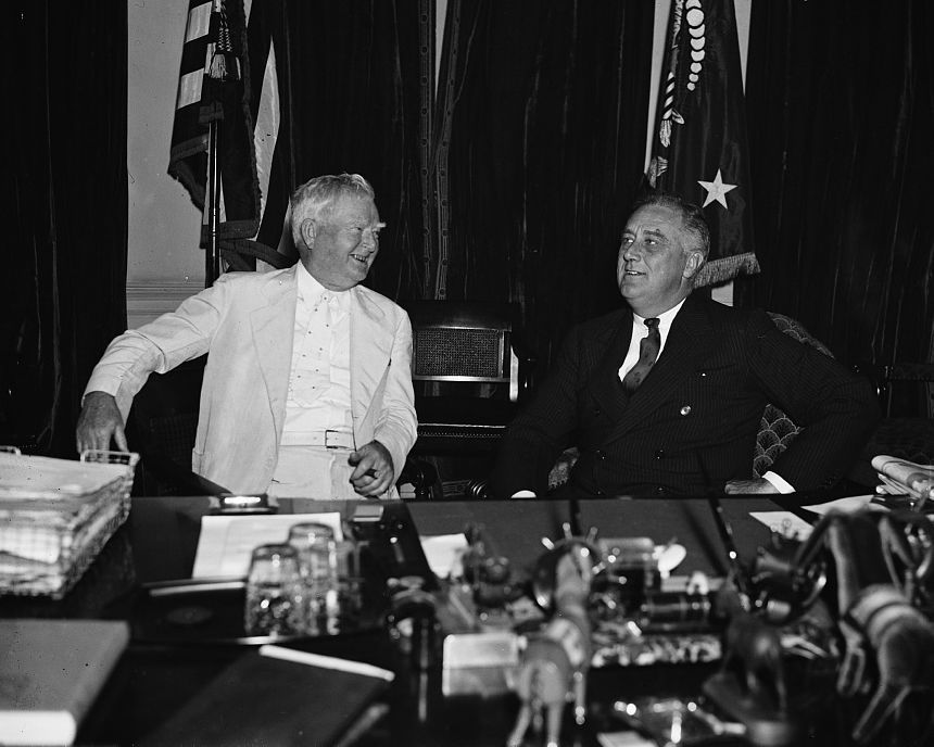 President Franklin Delano Roosevelt and VP John Nance Garner 1936 Photo Print