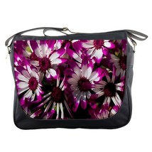 Messenger Bag Beautiful Purple Flowers In Nature Design Game Animation Fantasy - $30.00