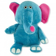 Plush Elephant Pet Toy with Squeaker - 1x w/Random Color and Design