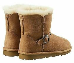 Kirkland Signature Kids Chestnut Australian Sheep Shearling Buckle Winter Boots image 2