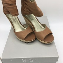 Jessica Simpson Wedges Js-chesto Wood Laura Leather, Size 6.0 - $14.85