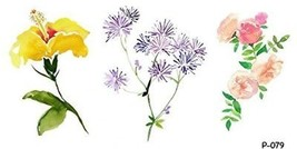 WYUEN 5 Sheets Flower Temporary Tattoo For Women Fake Tattoo Sticker Hand Body - $12.66