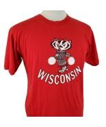 Vintage Wisconsin Badgers Bucky Pom Pom Cheer T-Shirt Large Single Stitc... - $89.99