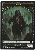 Magic MTG Promo Token Zombie Shadows Over Innistrad - 2016 - $2.50