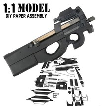 1:1 Crazy P90 Toy Gun Model Paper Assembled Educational Toy Building Con... - $11.20