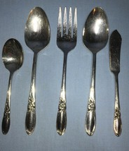 5 pc. Serving set ~ Oneida Community WHITE ORCHID Silverplate - $22.50