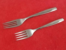 "Dinner & Salad Fork Lawncrest Rogers Cutlery Co International Stainless 6"" & 7"" - $9.89"