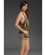 ONE TEASPOON Wilde OVERALLS Leopard DRAPED Romper ONE-PIECE Drawsting M ... - $119.97