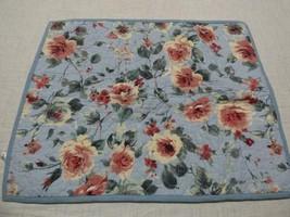 Martha Stewart Quilted Floral Sham, Blue - $13.86