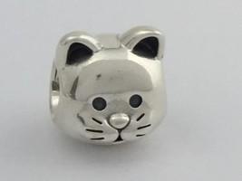 Auténtico Pandora Curious Gato Plata de Ley Cuenta Charm 791706 Nuevo - $30.91