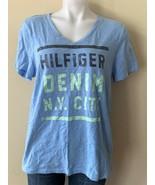 Tommy Hilfiger Women's Denim N. Y. City V-Neck Shimmer T-Shirt Size Large - $14.95