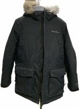 Eddie Bauer Superior Goose Down Parka Jacket Coat Hooded Size Medium Bla... - $114.99