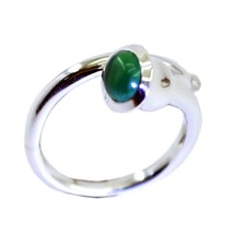 Natural Turquoise Sterling Silver Ring For Women Size 5,6,7,8,9,10,11,12... - $25.15