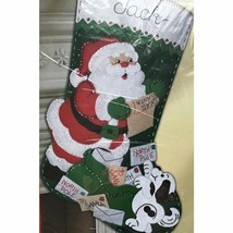 Bucilla Letters to Santa Jeweled Felt Christmas Stocking Kit Sequins Pup... - $44.46
