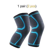 Ship from USA 1 Pair Knee Brace Knee Compression Sleeve Support for Men Women Ru image 3