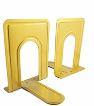 Gold/Brass Metal Book Ends for Shelves, Decorative Heavy Duty bookends for Home/