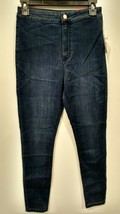 GUESS Factory Women's Nova Ultra High-Rise Curvy Skinny Jeans Dark Wash ... - $18.99