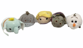 Mini Disney Tsum Tsum Lot 5 Olaf Dumbo Sven Ox Princess Rapunzel Eeyore ... - $12.86