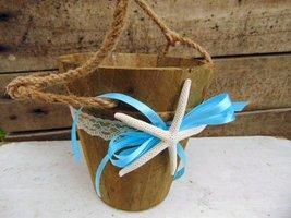 Beach Wedding Basket with natural starfish - $26.00
