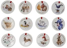 12 Jours de Noël Animaux Fin Chinois Décorations D'Arbre à Accrocher 7CM - $54.18