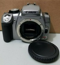 Canon Eos Digital Rebel Xt 8.0MP Digital Dslr Camera Body Silver *Bent Cf Pin* - $29.69