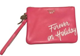 VICTORIA'S SECRET FOREVER ON HOLIDAY PINK WRISTLET CLUTCH MAKEUP BAG! NEW! - $9.49