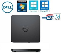 Dell Ultra Slim External USB DVD Drive +/-RW Plug& Play Latest UltraSlim... - $48.50