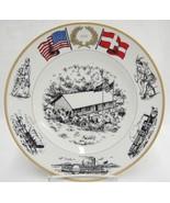B&G Bing Grondahl US Bicentennial 1976 Plate Lincolns Cabin Danish Immig... - $19.79