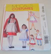 Mc Call's Costume Pattern M6187 Kids (3-4 5-6 7-8) - $9.89