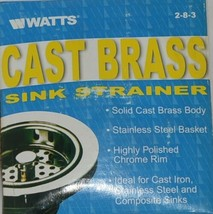 Watts Cast Brass Sink Strainer Stainless Steel Product Number 283 image 1