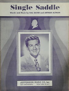 Primary image for Single Saddle 1949 Sheet Music by Eddy Howard