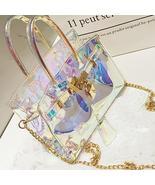Fashion See-through  PU Crossbody Bag - $26.28